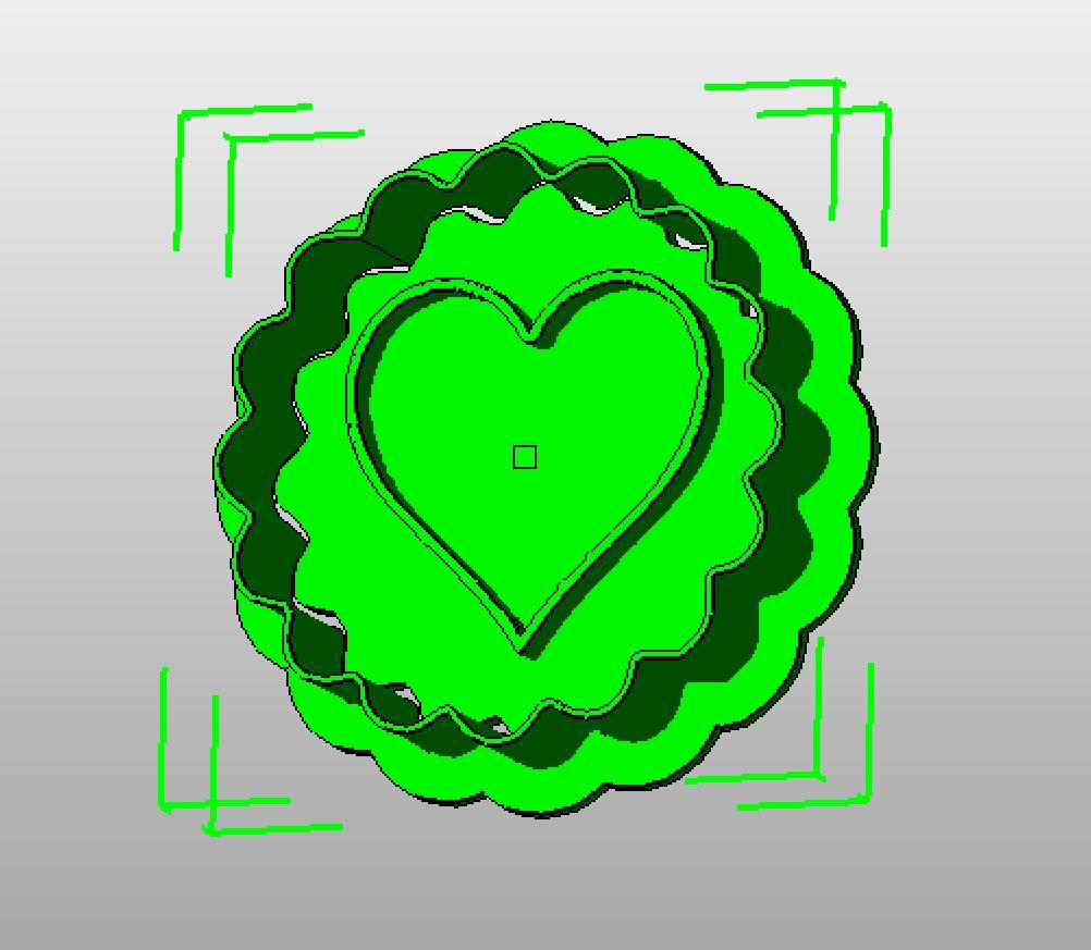 Herz Stempelform