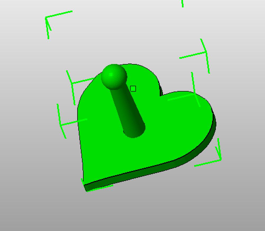 Herz Streuschablone